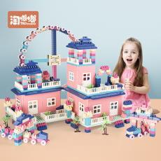儿童颗粒塑料拼插场景积木宝宝益智拼装3-6周岁1-2男孩女孩小玩具
