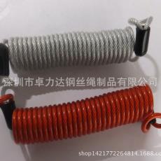 弹簧钢丝绳拉索 弹簧包胶钢丝绳 弹簧钢丝绳防暴拉索