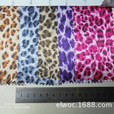 小豹纹布料 豹形装饰衣服里布箱包豹2923 色丁柔软面料化妆包盒子