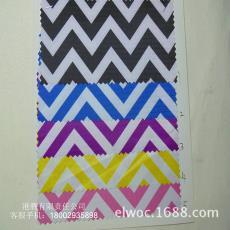 箱包手袋布料 编织纹起伏弯曲布1507 防水印花 水波纹大波浪 条纹