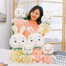 水果豬水果兔公仔兒童禮物 2019新創可愛毛絨水果抓機娃娃