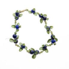 厂家直销生产加工Vintage批发手饰品女款青金石蓝莓绿色烤漆手链
