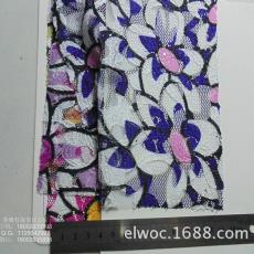 花形彩色布料箱包包装4203 大花朵 蕾丝裙子衣帽面料 网布印花