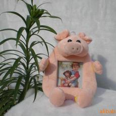 廠家供應 金華卡通兒童相框 可愛呆萌動物造型北極絨面料相框