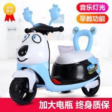 兒童卡通熊電動摩托三輪車寶寶卡通電瓶童車男女孩幼童玩具車