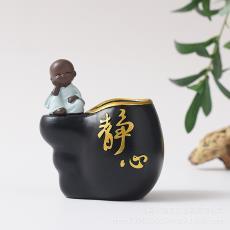 樹脂筆筒創意時尚復古中國風男可愛北歐女學生簡約辦公室桌面擺件