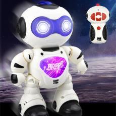 新品机械特工智能遥控机器人走路炫跳舞发光唱歌抖音儿童玩具批发