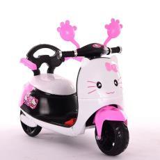 新款兒童電動摩托三輪車帶早教小孩卡通電瓶童車男女孩幼童玩具車