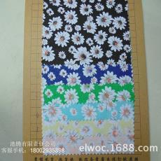 花朵纹箱包手袋鞋材帽花布8697 帆布环保 布料花纹 菊花纹厚耐磨