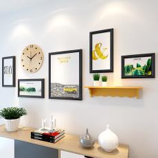 歐式無痕墻裝飾客廳自粘貼創意相框掛墻臥室懸掛相冊照片釘相片墻