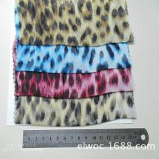家纺围巾豹纹帽布4314 大豹纹雪纺 环保制衣面料 印花豹形布料
