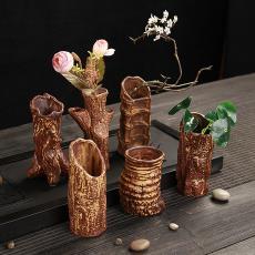 創意陶瓷小花瓶吊飾麻繩懸掛干花插水培綠植辦公家居裝飾復古擺件