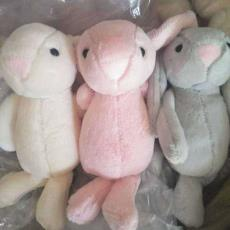 精品八寸抓機娃娃短毛長耳大兔子公仔少女生日禮物玩偶
