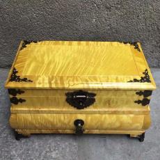 大葉楠金絲楠首飾盒紅木手飾收納盒實木飾品盒雙層鏡箱復古中式高