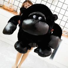 大猩猩毛绒玩具公仔 黑猩猩猴子玩偶布娃娃生日礼物批发 黑金刚