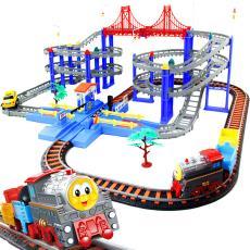 立昕托馬斯小火車軌道套裝賽車軌道汽車軌道車兒童不含 男孩 男
