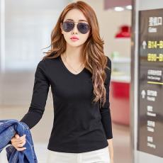 女打底衫純色長袖t恤女批發代發 2019春季韓版女裝新款上衣t恤