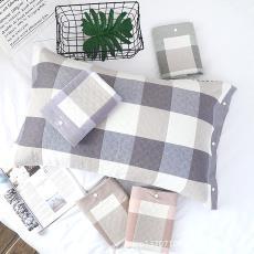 純棉紗布全包多用按扣枕套 兒童成人枕套AB版 全棉四季通用