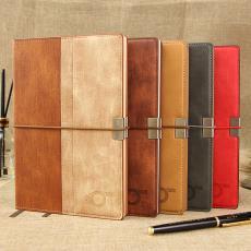 厂家直销商务笔记本a5本子日记本简约皮面办公文教会议记事本定制