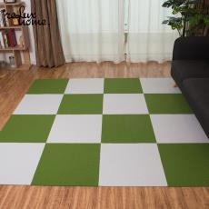 日本免膠拼接方塊地毯地墊客廳臥室兒童寵物辦公滿鋪房間定制地暖