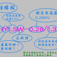 氧化锌避雷器 HY1.5W-0.28/1.3 隆马电器