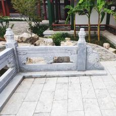 花岗岩石雕河道护栏汉白玉扶手庭院围栏 直销大理石栏杆石栏板