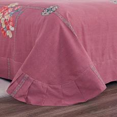 單件加厚純棉100%全棉布床單磨毛冬季植物花卉男女1.5m1.8m2米雙