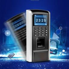 指纹门禁系统套装密码刷卡考勤门禁一体机玻璃门电插锁中控F7同款