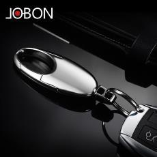 jobon中邦汽車鑰匙扣男腰掛高檔簡約車鑰匙掛件鑰匙圈環創意禮品