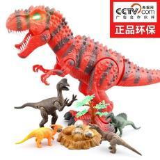 大号模型电动恐龙玩具仿真遥控男孩动物广东省龙会有下蛋儿童礼物