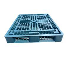 藍水口料卡板1210優質網格田字卡板PE水口料田字板出口托盤防潮板