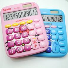 卡通可愛計算器中號可愛計算機KT-111計數器粉色藍色KT酷貓DD藍貓
