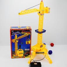 儿童含遥控线控手柄工程吊含机电动 玩具吊车工程车电动
