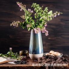 陶土窑变大花瓶 创意家居工艺品花器摆件 复古陶土家居摆设