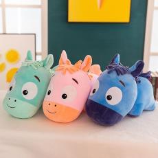 抖音玩具儿童生日礼物 新款软体小毛驴公仔大脸驴抱枕毛绒玩具