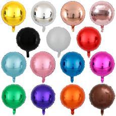 纯色铝膜气球单色圆形婚庆派对装饰用品气球现货 新款  18寸圆球