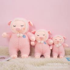 厂家直销猪年新款安抚猪毛绒玩具公仔陪睡抱枕猪宝宝玩偶生日礼物