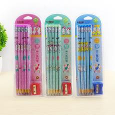 卡通图案书写铅笔 小学生练字HB铅笔10支 汪汪犬系列铅笔送卷笔刀