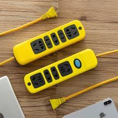 插线板神器大功率电动车摔不烂拖线板排插充电弱电两项插头弱电