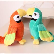 鸚鵡公仔鳥兒毛絨玩具喜鵲玩偶結婚禮物婚慶娃娃抓機娃娃拋灑娃娃