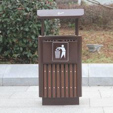單體垃圾桶 可定制 廠家直銷 小型方形果皮箱 戶外鋼木方形垃圾桶