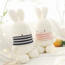 超萌可爱礼物啵啵兔毛绒玩具波波兔子公仔情侣兔兔玩偶布娃娃抓机