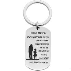 钥匙扣吊牌 钥匙圈 感恩节礼物饰品 速卖通热销 Grandpa To