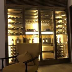 酒柜 酒窖來圖加工 佛山廠家定制 不銹鋼紅酒架 不銹鋼恒溫酒柜
