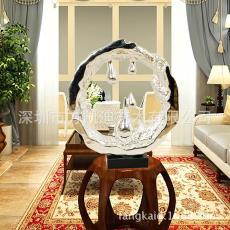 太阳水滴电镀银石头艺术摆件 一手货源 抽象酒店配饰软装饰设计