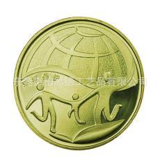 會銷禮品來圖定制 銀幣紀念幣定制 烤漆上色紀念幣 純銀紀念幣