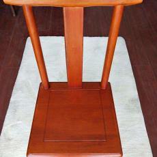 實木唐木小椅子公司禮品椅兒童靠背椅換鞋洗腳客廳茶幾多用官帽椅