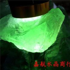 嘉航水晶商行工厂批发天然绿萤石原石摆件可观光雕刻景石天然水晶