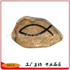 创意仿真石头小摆件树脂工艺品 田园石头摆件 花园石头摆件装饰品