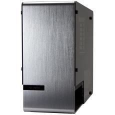 ITX主板鋁合金鋼化玻璃雙面側透 迎廣901 迷你機箱支持MINI 銀色
